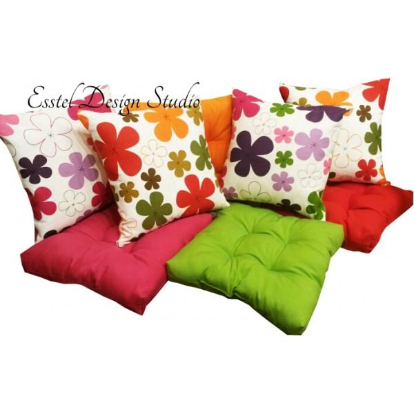 Комплект: подушка декоративная 40х40 + сидушка 45х45