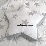 """Декоративная подушка """"Серая звезда"""""""