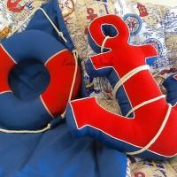 подушки: круг и якорь