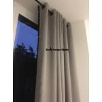 Серые шторы на люверсах
