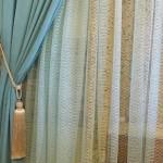 Бирюзовые шторы и тюль в Буче