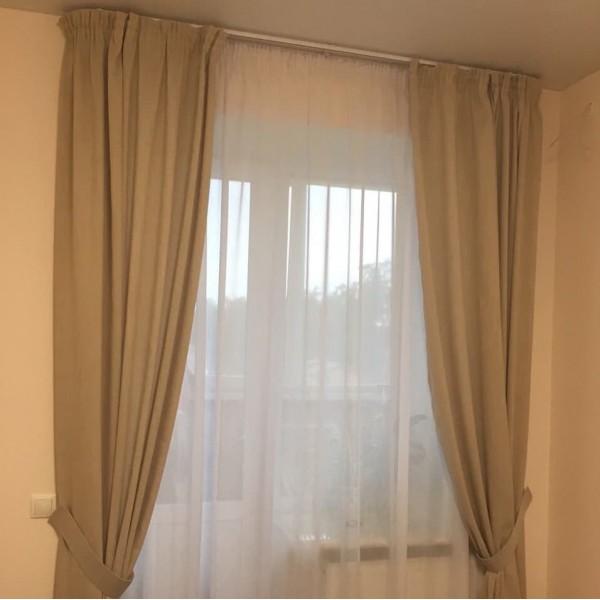 Комплект: шторы, тюль, подхваты