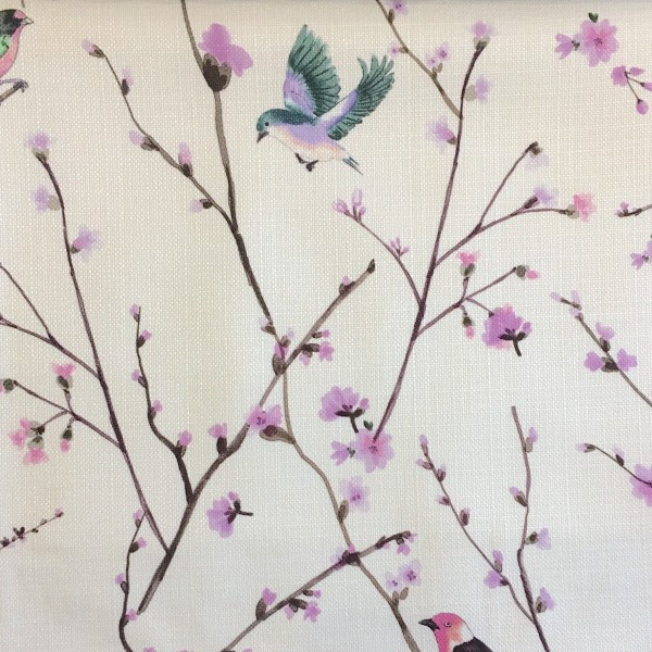 Ткань с изображением птиц