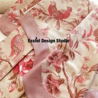ткань с цветами для подушек
