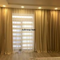 дизайн штор в спальне