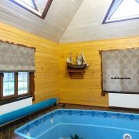 римские шторы в бассейн