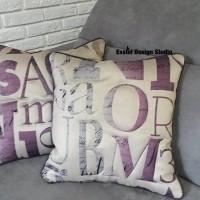 подушки с буквами