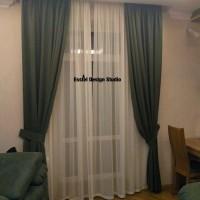 зеленые шторы и тюль