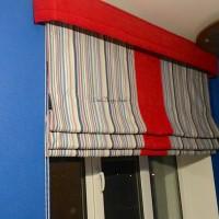 римская штора (красный и синий)